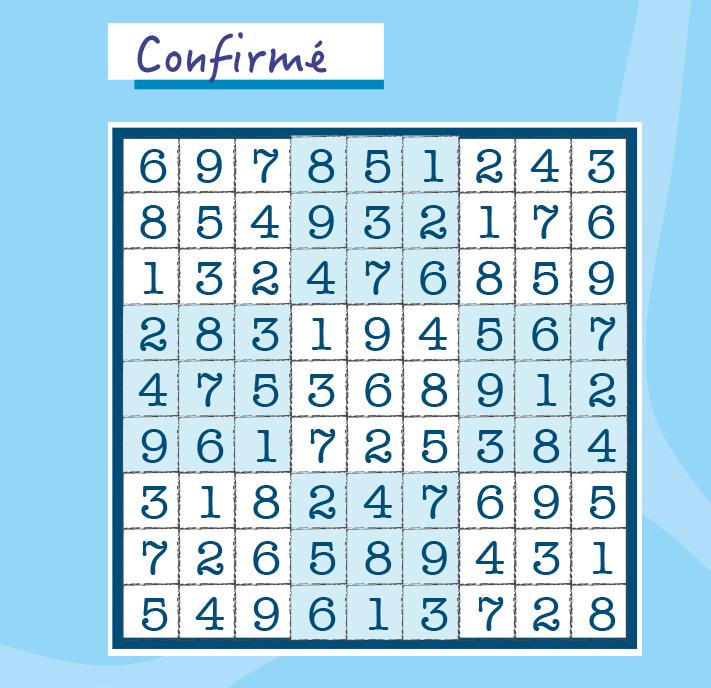 Résultats du Sudoku confirmé Page 88 du magazine.